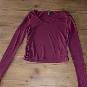 Forever 21 size small cropped lightweight sweater
